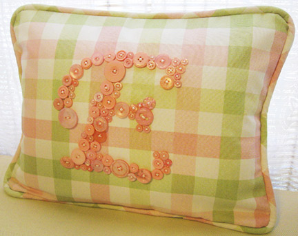Sweet Pink Plaid Pillow