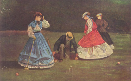 Croquet by Winslow Homer, 1864