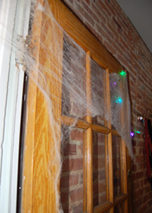 spider webs on doorway