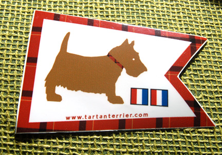 Tarten Terrier Sticker
