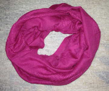 magenta infinity scarf