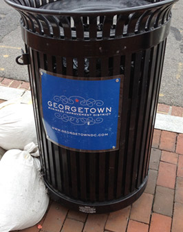 Georgetown Trash Can
